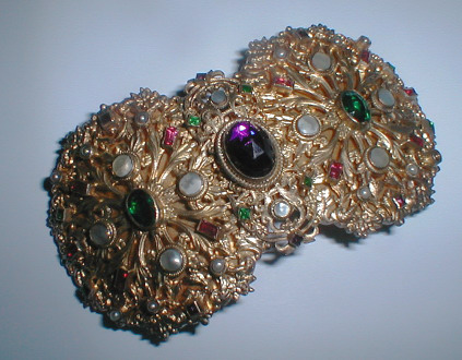 Description Antique Silver Gilt Buckle By Austrian Maker Turriet Und Bardach This Company Exhibited At The 1902 Turin International Exhibition